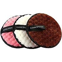 Pawaca Almohadillas reutilizables para quitar maquillaje, 6 almohadillas de microfibra para la cara, lavables