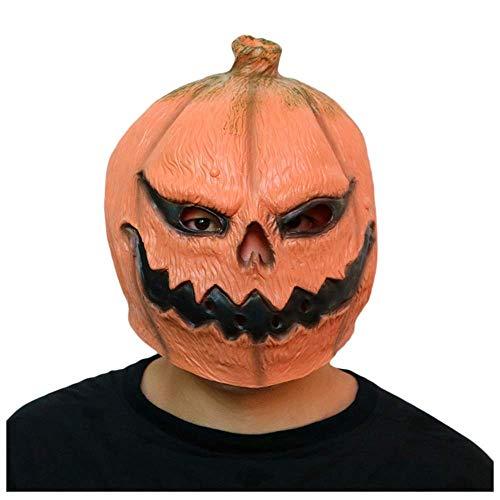 YaPin Halloween Kürbis Maske Kopfbedeckungen Horror Ghost Kürbis Maske Filme Lustige Spukhaus Ball Kopfbedeckung (Kürbis-gesicht Halloween Aus Dem Film)