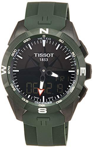 Tissot Herren-Uhren Analog Quarz, solar One Size Kautschuk 87249298