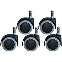 Parkett-Stuhlrollen-Set 50 mm spurfrei 5 Stück im Beutel