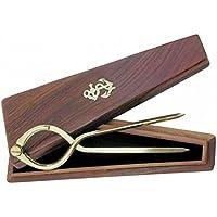 Compás para navegación de latón con estuche de madera