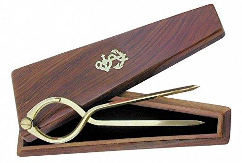 Messing Einhandzirkel in Holz-Schatulle