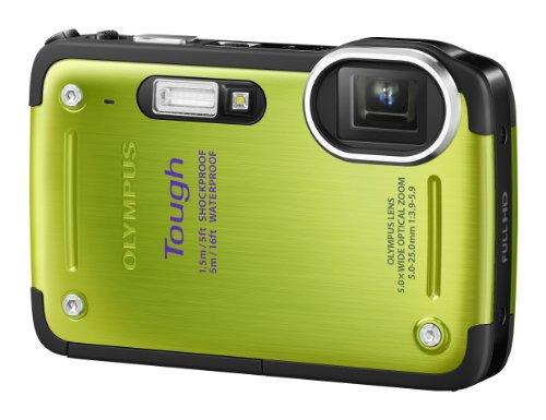 Olympus TG-620 Digitalkamera (12 Megapixel, 5-fach opt. Zoom, 3 Zoll Display, True Pic 6 Prozessor, Wasserdicht bis 5m, kälteresistent, staub- und stoßgeschützt) grün