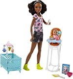 Barbie FHY99 Babysitters Including Doll and Playset, Multi-Colour, One Size