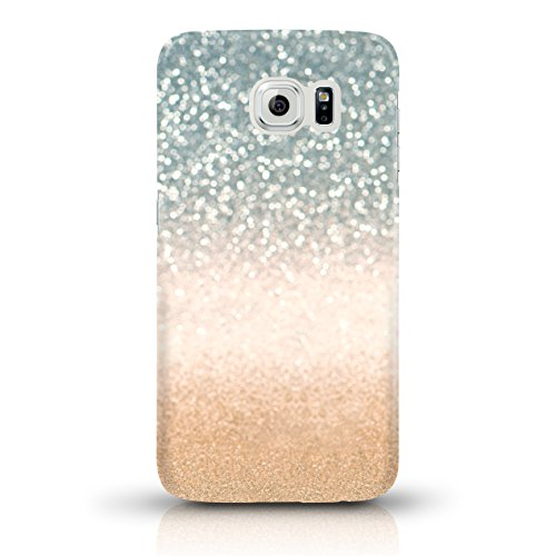 """JUNIWORDS Handyhüllen Slim Case für Samsung Galaxy S6 - Motiv wählbar - """"Majestätischer Hirsch"""" - Handyhülle, Handycase, Handyschale, Schutzhülle für Ihr Smartphone Glitzer Türkis zu Gold"""