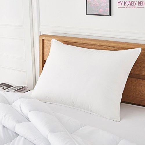 My Lovely Bed - Oreiller Percale 100% Coton - 65x65 cm - Doux et Gonflant - Confort Moelleux - Anti acariens - Haut de Gamme