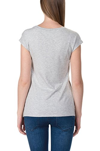 Bellybutton Stillshirt 1/4 Arm, T-Shirt Femme Grau (light 8100)