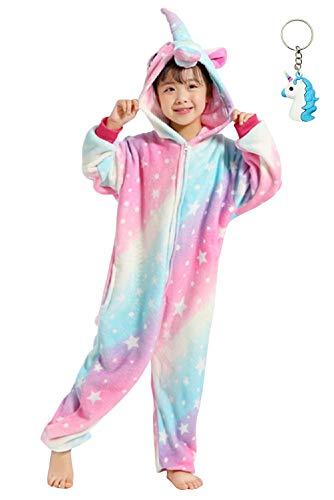 3103ed87f1 Landove Pigiama Intero Bambina Unicorno Tuta Flanella Kigurumi Animale  Tutina Costume Cosplay Pajama per Party Halloween