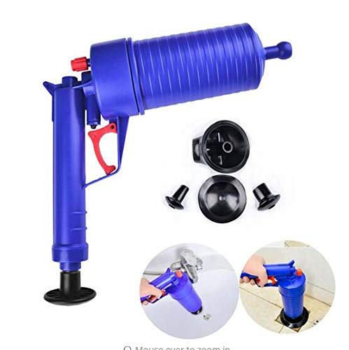 Clogs Pumps (TQ Hochdruck Air Drain Blaster Pump Plunger Waschbecken Rohr Clog Remover Toiletten Bad Küche Cleaner Kit Drop Shipping)
