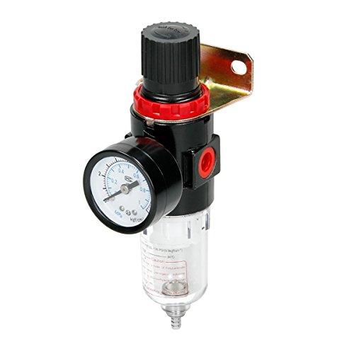 ECD Germany 1/4'' Wasserabscheider für Kompressor - Luftdruckregler - Druckminderer - Filterdruckminderer - Öl/Wasser-Abscheider - Trap-Filter - Airbrush Kompressoren-Zubehör