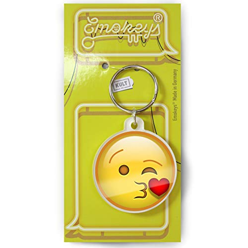 EMOKEY® Kuss - Kuss Anhänger, Mini Kuss Emoji ★Made in Germany★