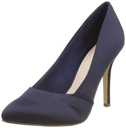 Bianco Damen Loafer Pump 100 Pumps, Blau (Navy Blue 2), 41 EU