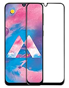 WOW Imagine Full Glue 5D Full Edge-to-Edge Screen Protection Tempered Glass for Samsung Galaxy M30 M 30 - Black (with Installation Kit)