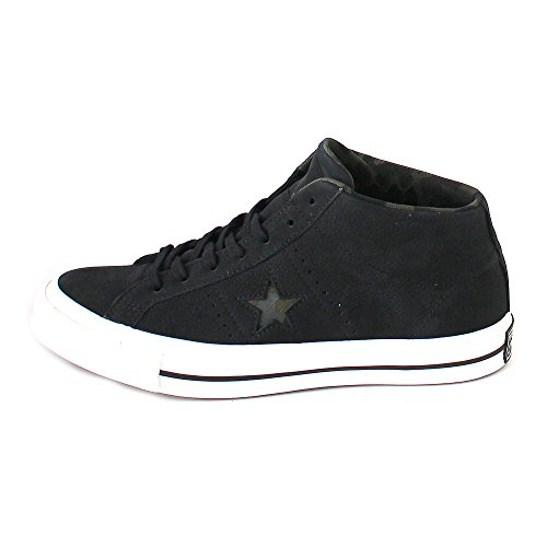 Converse Uomo Scarpe/Sneaker One Star Mid Schwarz (black/egret/herbal)