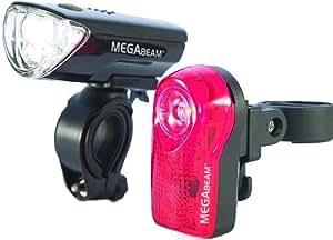 Sport DirectTM Bicycle Bike 0.5W MegaBeamTM LED Light Set 3 Diode LED Front Lamp & 3 Diode Rear CE Approved
