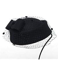 05b5774add65a GHC Gorras y Sombreros Sombrero Nupcial Mujer Otoño Invierno Cálido  Mantener Sombrero Lana Elegante Banquete Top