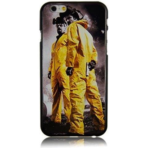 "NdB 1582 - Cover Case Custodia per iPhone 6 e 6S 4.7"" Stampa Heisenberg Walter White e Jesse Pinkman Nera BrBa - Rigida"