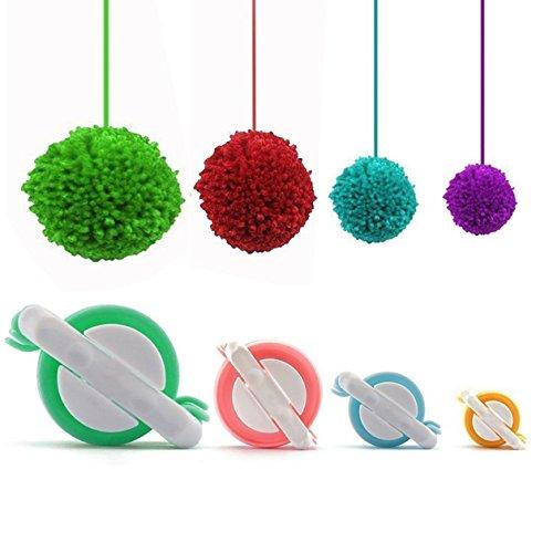 Pompon Maker, POM POM Maker Kit für Kids DIY Stricken Craft Werkzeug Fluff Ball Weaver Maker, 4Größen (klein bis groß), zufällige Farbe (Kids Knitting Loom Kit)