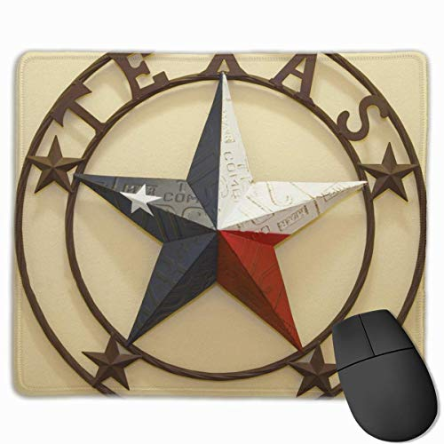 Mouse Mat Western Texas Stars Non-Slip Rubber Mouse Pad for Desktops, Computer, PC and Laptops 9.8 X 11.8 inch (25x30cm) Western Non-slip