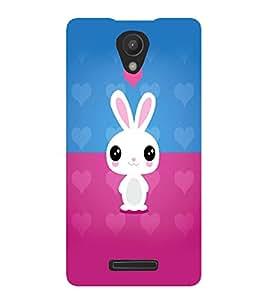 PrintVisa Cute Cartoon Rabbit Cute 3D Hard Polycarbonate Designer Back Case Cover for Xiaomi Redmi Note 2