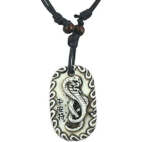 COLLAR CON COLGANTE DE ESCUDO CON SERPIENTE CHINA DE RESINA DEGRADADO REGALO IDEAL PARA HOMBRE TIRANTES PARA