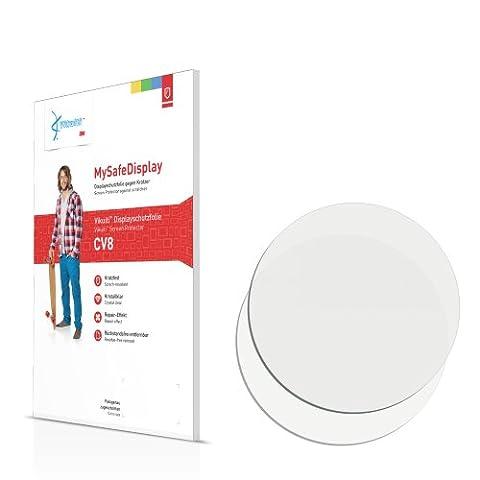 2x Vikuiti MySafeDisplay Film de protection écran CV8 adapté pour Montres (circulaire, Diamètre: 40mm)