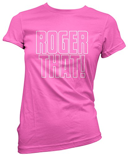 Roger That! - Roger That! Damen T-Shirt - tennis wimbledon hat cap Roger Federer - UK Größe 12 Rosa (Wimbledon-pin)