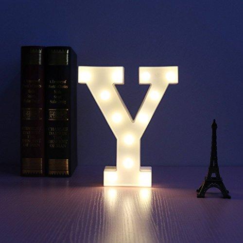 Alfabeto lettere led notte leggero festival tendone cartello parete decorativo tavolo lampade nozze camera da letto lampada parete sospeso fotografia ornamenti motivo lampada (y)