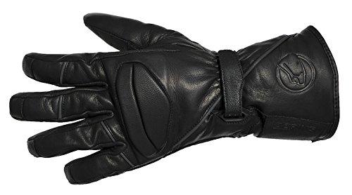 Bering Motorrad Handschuhe Winter, Schwarz, M