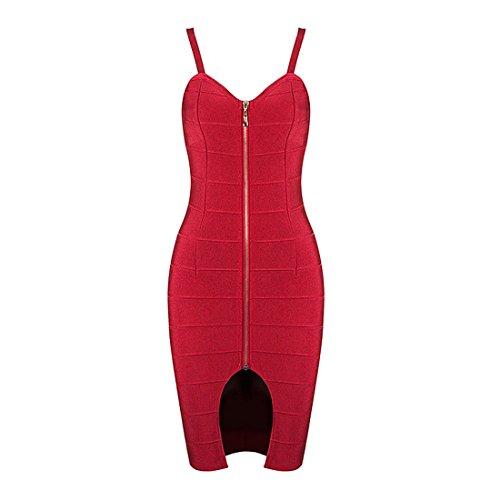 meilun - Robe - Femme rouge vin