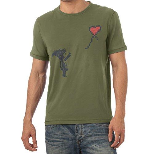 TEXLAB - Banksy Link - Herren T-Shirt, Größe M, (Ocarina Shiek Time Of Kostüm)