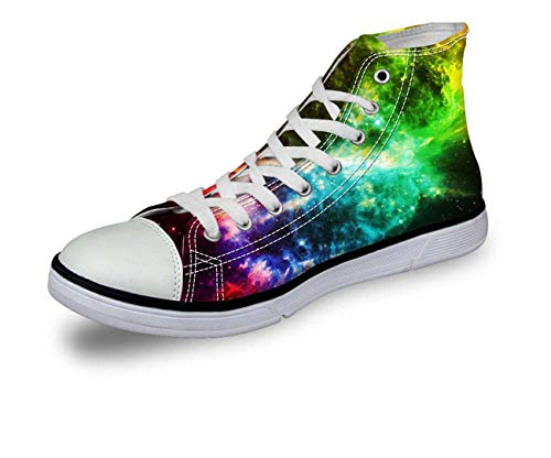 Space Mens Boys Canvas Shoes Indoor Tennis Shoe Casual Boots Size 39-45 Galaxy D0353AV Pattern 3 EU 43 \u002F US 10 \u002F UK 9.5 Pliner High Heels