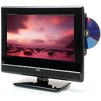 Xoro HTC 1347 33,78 cm (13,3 Zoll) LCD Fernseher (FullHD, Triple Tuner DVB-S2/T2/C, H.265/HEVC-Decoder, DVD Player, Mediaplayer, USB 2.0, PVR Ready, Timeshift, 12V)
