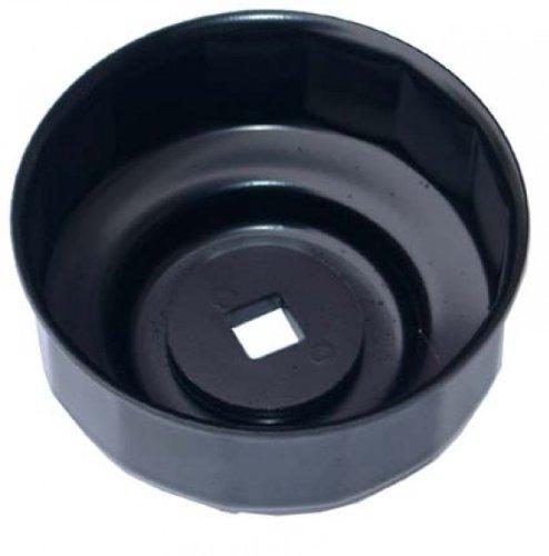 Tappo filtro olio BGS in lamiera d''acciaio, 65 x 14 biesagonale, Nero laccato, 1047