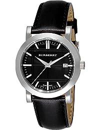 ea33c7238d50 Burberry Hombres Unisex mujeres reloj patrimonio Swiss lujo redondo negro  de acero inoxidable FECHA Dial Negro