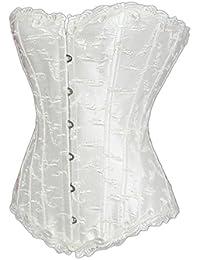 E-Girl Stereo Relief Pattern sans bretelles Bustiers et corsets,blanc