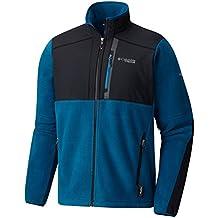 Columbia Titan Frost Fleece–Chaqueta de esquí para hombre, XXL, Phoenix Blue/Black