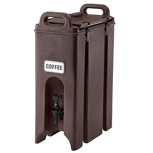 Cambro Camtainer Contenedor Isotermico de Liquidos con Grifo, Marrón, 52x41x22 cm