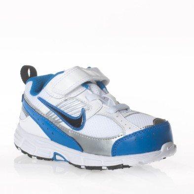 Nike - Nike Dart 8 (TDV) Kinderschuhe Weiss und Blau Leder und Textil 395827 - Weiss, 22 (Dart Nike Mädchen)