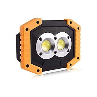 FONCBIEN Foco LED Recargable, Luz de Trabajo Portátil 30W con 3 Modos Iluminación, Resistente al Agua, Luces de Seguridad de Emergencia para Exterior