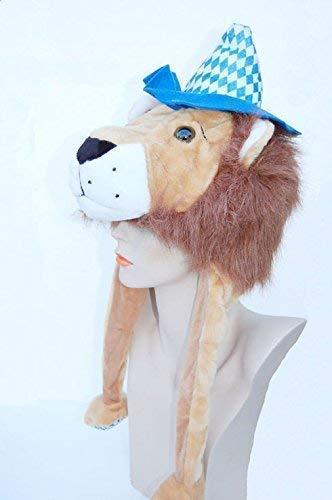 ut Löwe, Fasching-Hut, Karneval-Hut, Spaß-Hut, Spaß-Mütze, Party-Hut, Tier-Hut, Tier-Mütze, Kopfbedeckung, Wintermütze, Löwen-Hut, Fan-Hut ()