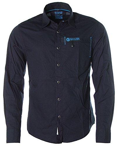 Kitaro -  Camicia Casual  - Classico  - Maniche lunghe  - Uomo blu navy