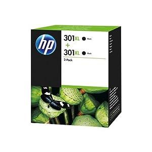 cartuchos: HP 301XL - Pack de ahorro de 2 cartuchos de tinta Original HP 301 XL de álta cap...