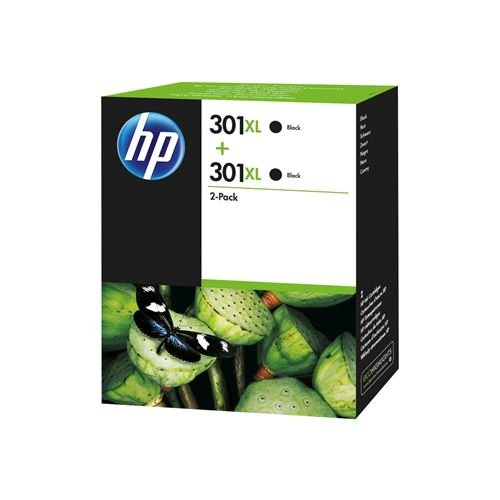 HP 301XL - 2 Saving Pack HP High Capacity 301 XL Original Black Ink Cartridges for HP DeskJet, HP OfficeJet and HP ENVY