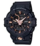 Casio G-SHOCK Orologio 20 BAR, Dorato/Rosa/Nero, Analogico - Digitale, Uomo, GA-710B