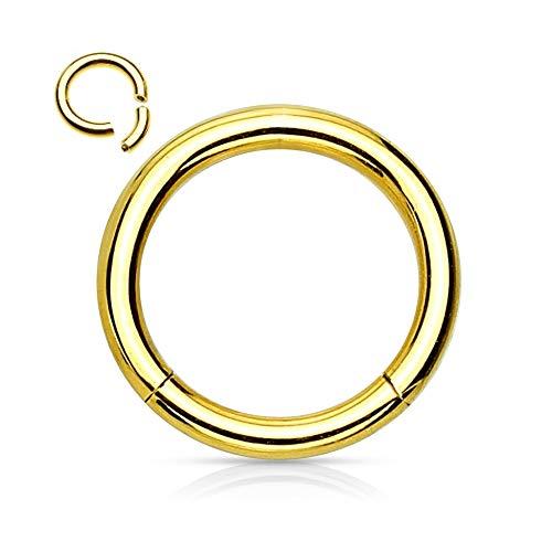 Treuheld Segmentring Piercing - Gold [3.] - 1.2 x 10 mm