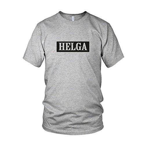 Helga - Herren T-Shirt Grau Meliert