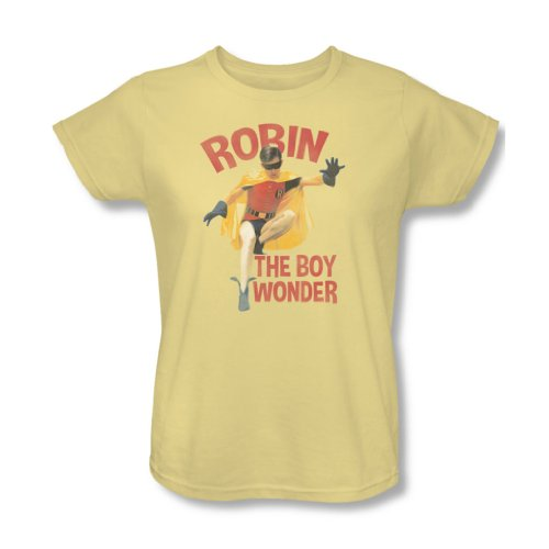 Batman - Klassische TV - Damen Wonder Boy-T-Shirt, XX-Large, Banana/Trans Yellow Wonderboy-shirts