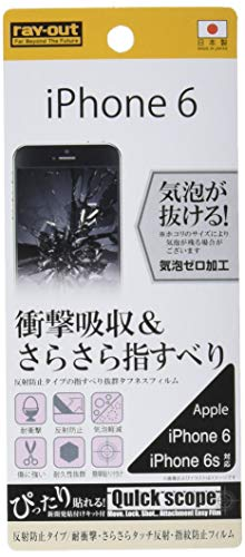 Rayout LCD Toughened Screen Protection Sticker for iPhone 6 -Protection Premium Japanese Glass Film - Verizon, AT&T, T-Mobile, Sprint, International, and Unlocked - Screen Protector for iPhone 6(Anti-Reflection / Smooth / Anti-Fingerprint)