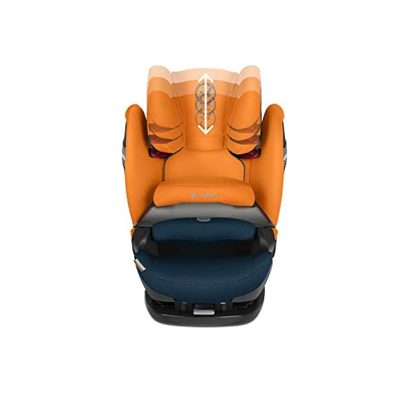CYBEX Gold Pallas S-Fix 2-in-1 Child's Car Seat, For Cars with and without ISOFIX, Group 1/2/3 (9-36 kg), From approx. 9 Months to approx. 12 Years, Tropical Blue Cybex Sturdy and high-quality child car seat for long-term use - For children aged approx. 9 months to approx. 12 years (9-36 kg), Suitable for cars with and without ISOFIX Maximum safety - Depth-adjustable impact shield, 3-way adjustable reclining headrest, Built-in side impact protection (L.S.P. System), Energy-absorbing shell 12-way height-adjustable comfort headrest, One-hand adjustable reclining position, Easy conversion to Solution S-Fix car seat for children 3 years and older (group 2/3) by removing impact shield and base 6